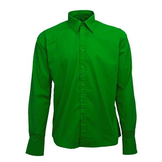 Donkergroen Overhemd.Heren Overhemd Groen Lange Mouw Voor Maar 34 95 Bij Viavoordeel